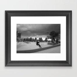 Denver Skate Park Framed Art Print
