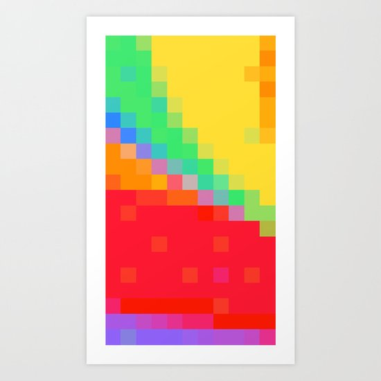 ABSTRACT PIXELS #0018 Art Print