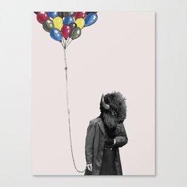 FREE BALLOONS Canvas Print