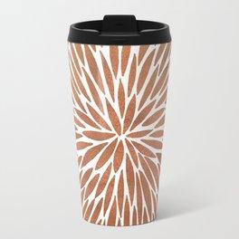 Rose Gold Burst Travel Mug