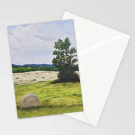Tree in the Hayfield Stationery Cards
