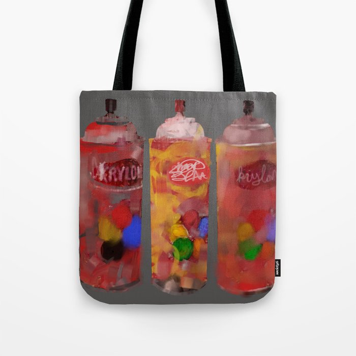 Spray Paint Cans Tote Bag By Gingerblah