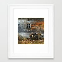 motorcycle Framed Art Prints featuring Motorcycle by Flosauro