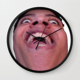 Influencer Myth Brick Perspective Surprise Friendly Face Rip Wall Clock