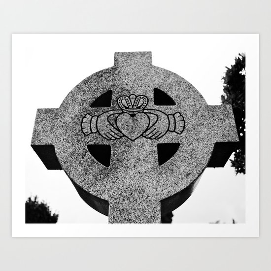 Claddagh cross Art Print