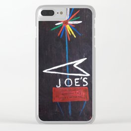 Joe's Sign at Night Clear iPhone Case