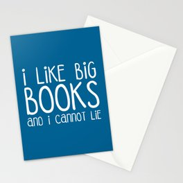 I Like Big Books Funny Quote Stationery Cards