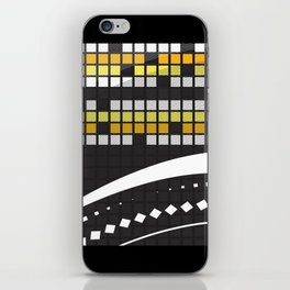 Abstract Crossword Puzzle Squares on Black iPhone Skin