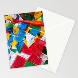 Colorful Tibetan prayer flags Stationery Cards