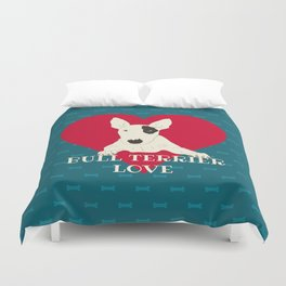 Bull Terrier Love Duvet Cover
