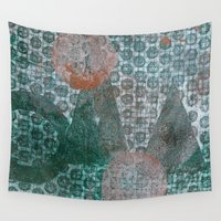 geometry Wall Tapestries featuring Geometry by Sandra Hedicke Clark