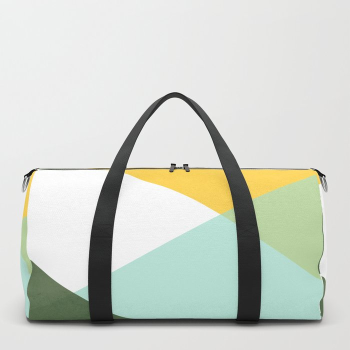 Geometrics - citrus & concrete Duffle Bag