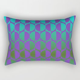 1974, violet and green Rectangular Pillow