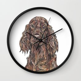 Red Setter Wall Clock