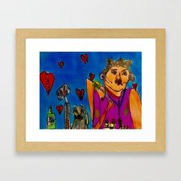Broken hearted Woman. Framed Art Print