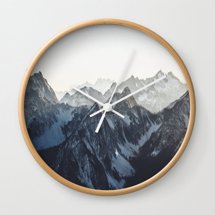 Mountain Mood Wall Clock