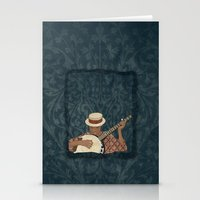 banjo Stationery Cards featuring Banjo by Aquamarine Studio