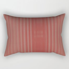 red striped glass subway tile Rectangular Pillow