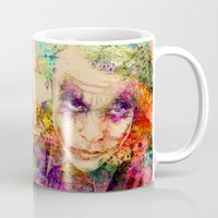 the joker Mugs featuring joker by mark ashkenazi