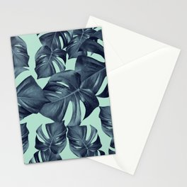 Monstera Leaves Pattern #10 #tropical #decor #art #society6 Stationery Cards