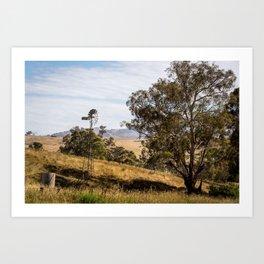 Swifts Creek Windmill  Art Print