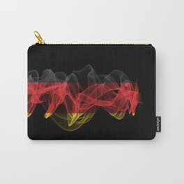 Germany Smoke Flag on Black Background, Germany flag Carry-All Pouch