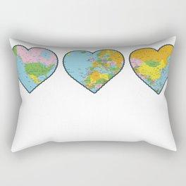 Heart Map Rectangular Pillow