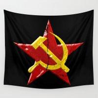 soviet Wall Tapestries featuring Soviet symbol by Emma Harckham