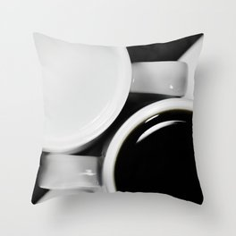 Yin & Yang, coffee and milk in Cups Throw Pillow