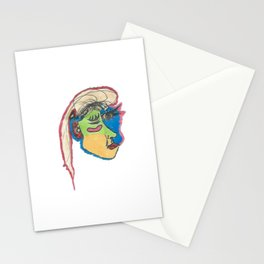 funky Picasso inspired profile Stationery Cards