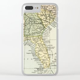 Vintage Map of the South Of The United States Of America Clear iPhone Case