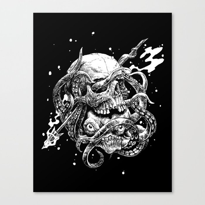 hidden kraken Canvas Print