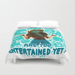 Are you entertained yet?    ScribbleNetty (Colored) Duvet Cover