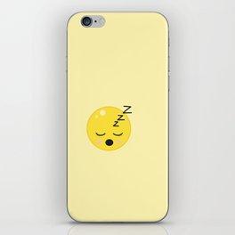 Sleeping Emoji ZZZzzz iPhone Skin