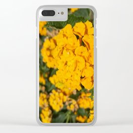 Yellow Blossom Clear iPhone Case