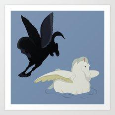 Fantasia's pegasus Art Print