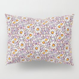 Blush Daisies and Berries Tiled Pattern Pillow Sham