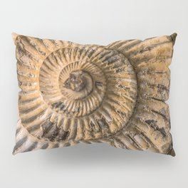Earth treasures - brown fossil Pillow Sham