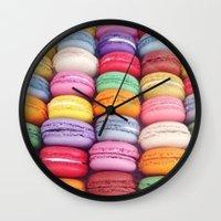 macarons Wall Clocks featuring Macarons by Sankakkei SS