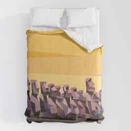 Geometric Easter Island Comforters