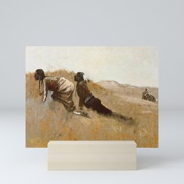 "Frederic Remington Western Art ""Indian Scouts Watching Custer"" Mini Art Print"