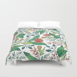 Wildflower Pattern - Full Color Duvet Cover