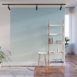 BLUE STRIKES - Minimal Plain Soft Mood Color Blend Prints Wall Mural