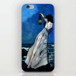 She lived almost alone in a sea of storms. iPhone Skin