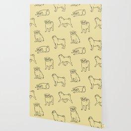 Pug Pattern Wallpaper