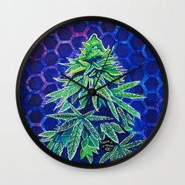 Purple Kush Wall Clock
