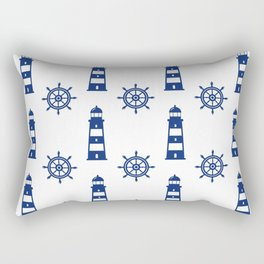 Blue Lighthouse Pattern Rectangular Pillow