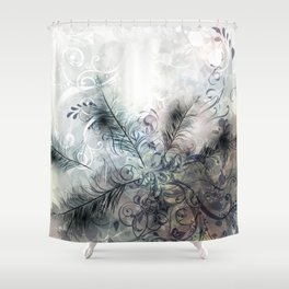 Fashion feather pattern Shower Curtain