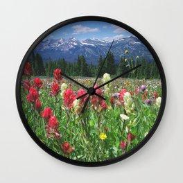 Wildflowers above Breckenridge, Colorado Wall Clock