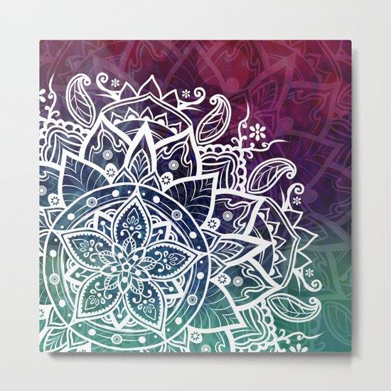Free Spirit Floral Mandala Metal Print